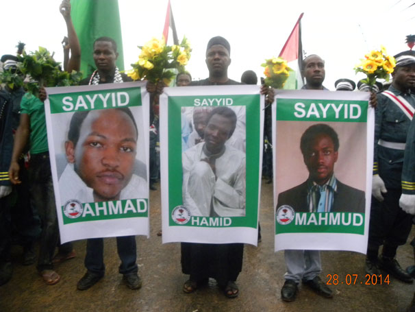 Three sons killed a year previously by the Goodluck Jonathan administration